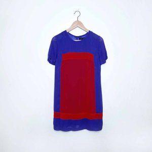 French Connection chiffon colour block shift dress